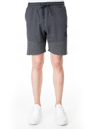 Buratti Buratti Pamuklu Belden Bağlamalı Slim Fit Short Erkek Short 568R164 Antrasit